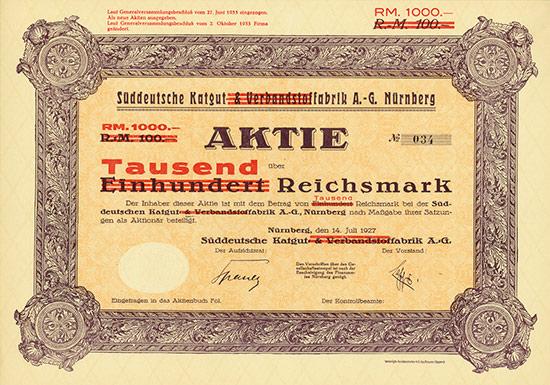 Süddeutsche Katgut & Verbandstoffabrik / Süddeutsche Katgutfabrik AG
