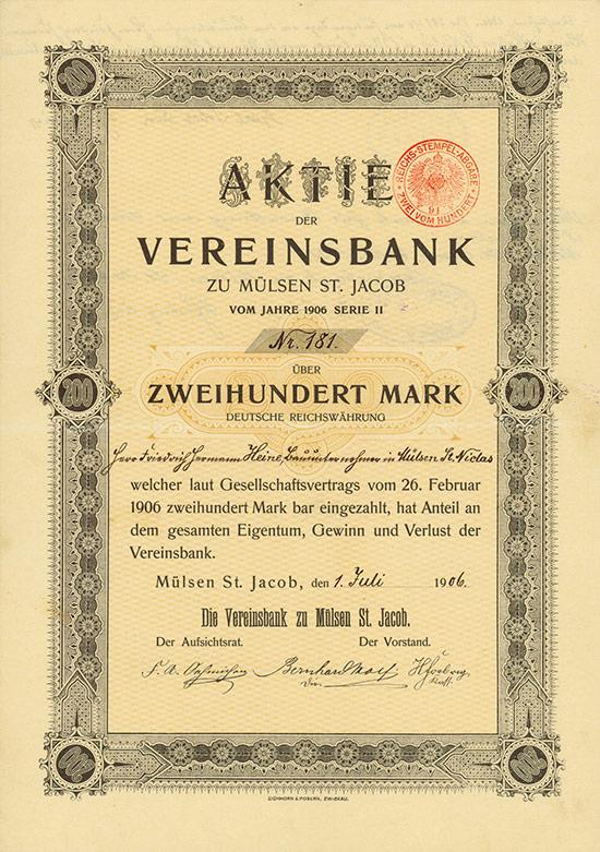 Vereinsbank zu Mülsen St. Jacob