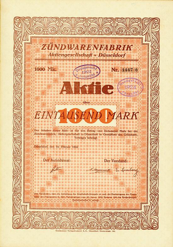 Zündwarenfabrik AG