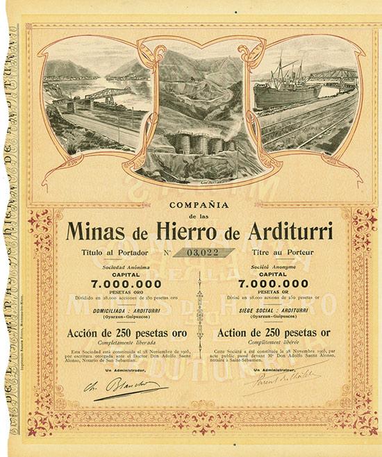 Compania de las Minas de Hierro de Arditurri [18 Stück]