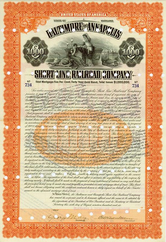 US-Eisenbahn-Anleihen [10 Stück]