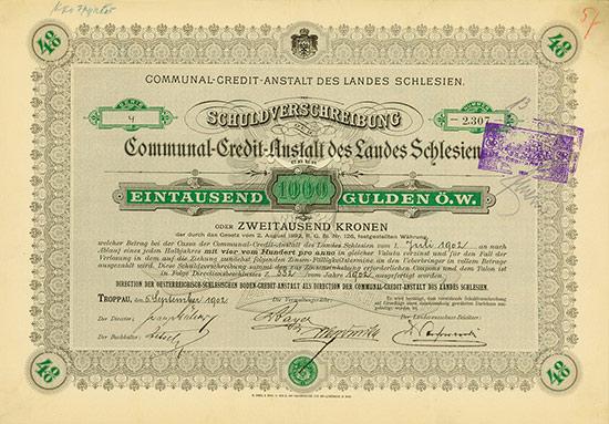 Communal-Credit-Anstalt des Landes Schlesien