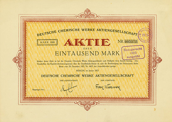 Deutsche Chemische Werke AG