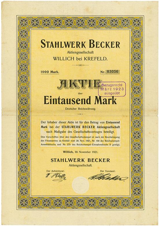 Stahlwerk Becker AG