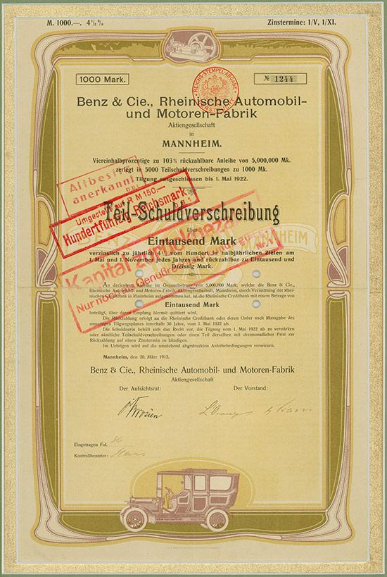 Benz & Cie., Rheinische Automobil- und Motoren-Fabrik AG in Mannheim