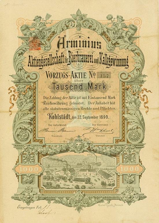 Arminius Aktiengesellschaft für Bierbrauerei und Kalkgewinnung