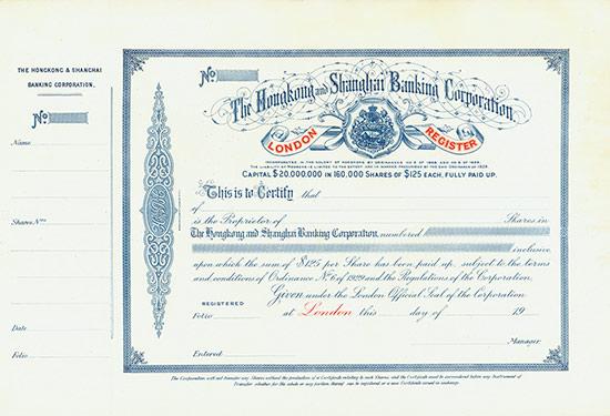 Hongkong and Shanghai Banking Corporation - London Register