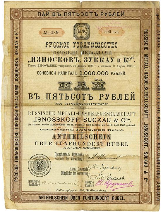 Russische Metall-Handelsgesellschaft