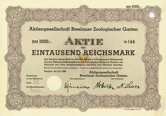 Aktiengesellschaft Breslauer Zoologischer Garten