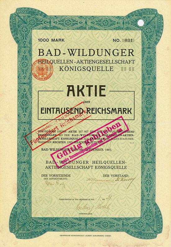 Bad-Wildunger Heilquellen-Aktiengesellschaft Königsquelle