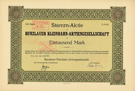 Bunzlauer Kleinbahn-AG