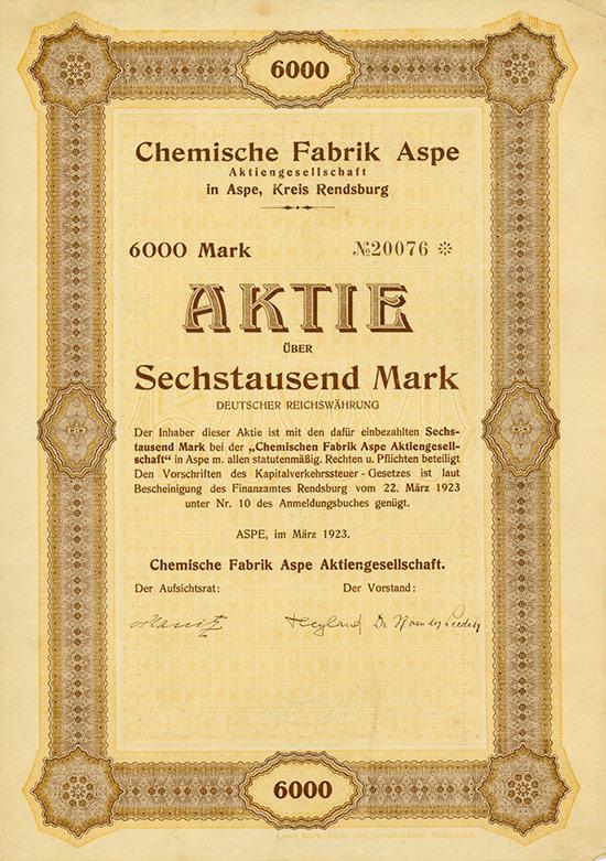Chemische Fabrik Aspe AG