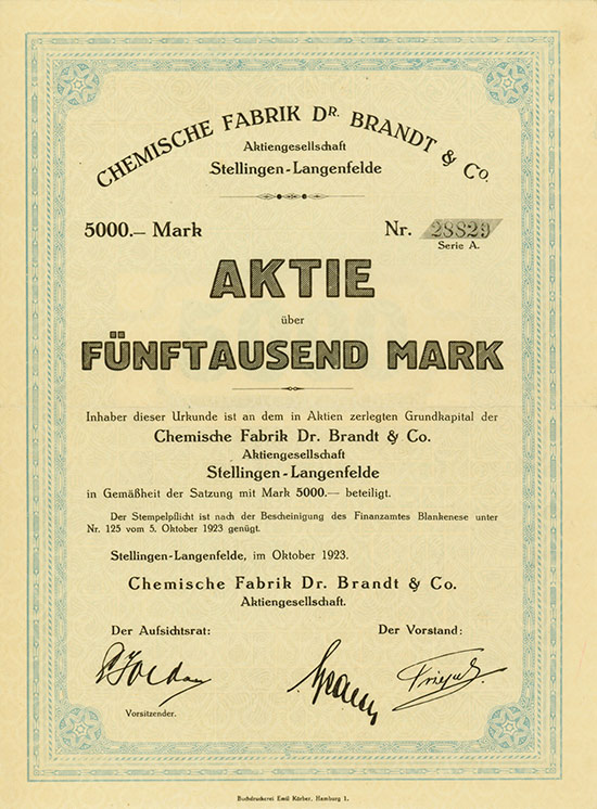 Chemische Fabrik Dr. Brandt & Co. AG