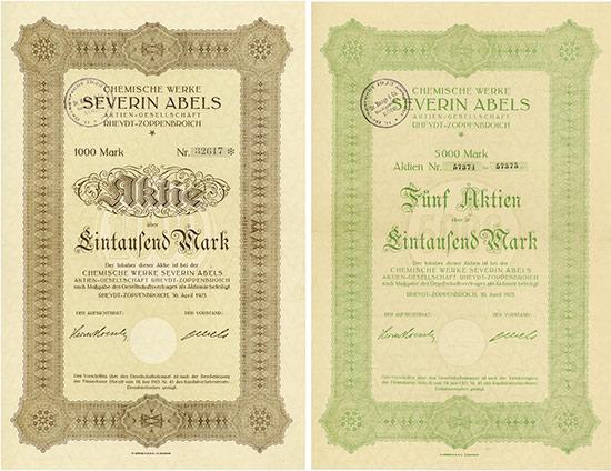 Chemische Werke Severin Abels AG [3 Stück]