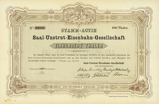 Saal-Unstrut-Eisenbahn-Gesellschaft [3 Stück]