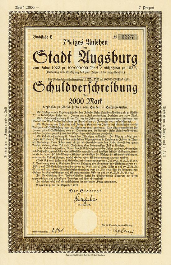 Stadt Augsburg [2 Stück]