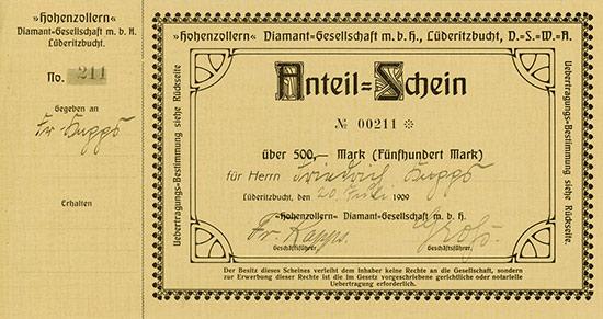 "Hohenzollern"" Diamant-Gesellschaft m. b. H."