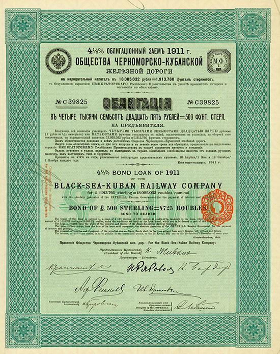 Black-Sea-Kuban Railway Company [2 Stück]
