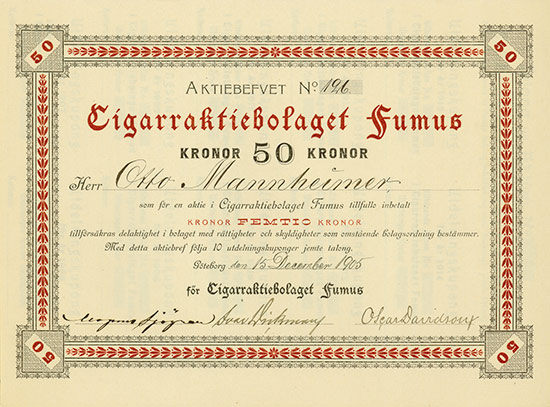 Cigarraktiebolaget Fumus