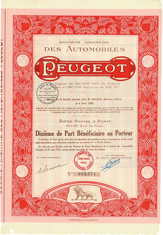 Société Anonyme des Automobiles Peugeot