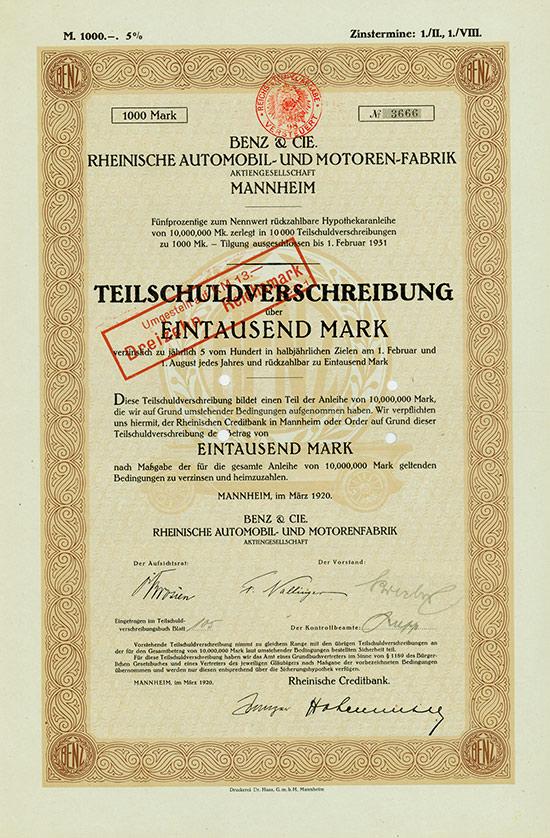 Benz & Cie. Rheinische Automobil- und Motoren-Fabrik AG