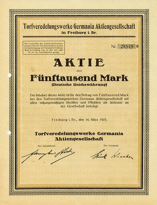 Torfveredlungswerke Germania AG