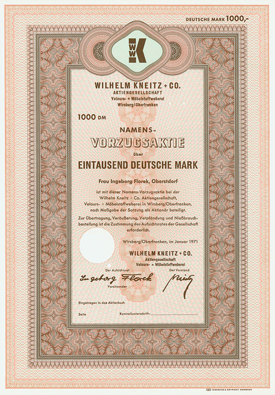 Wilhelm Kneitz + Co. AG Velours- + Möbelstoffweberei