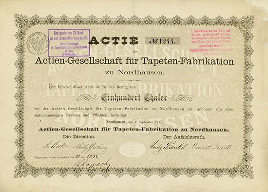 Actien-Gesellschaft für Tapeten-Fabrikation zu Nordhausen