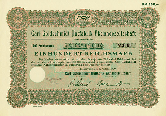 Carl Goldschmidt Hutfabrik AG