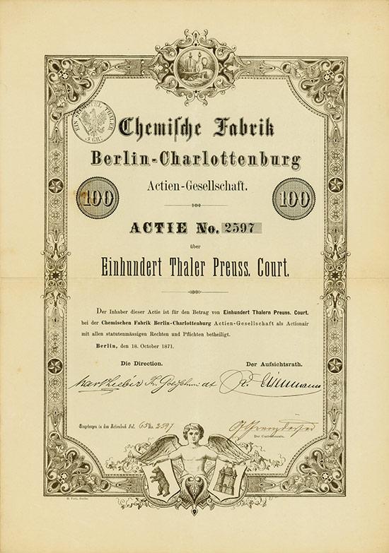 Chemische Fabrik Berlin-Charlottenburg AG