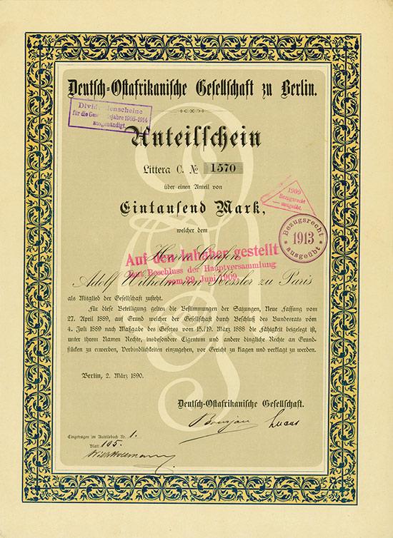 Deutsch-Ostafrikanische Gesellschaft zu Berlin