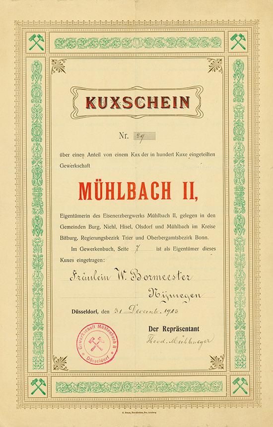 Gewerkschaft Mühlbach II