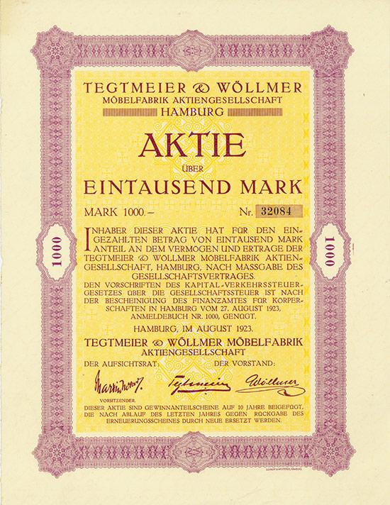 Tegtmeier & Wöllmer Möbelfabrik AG
