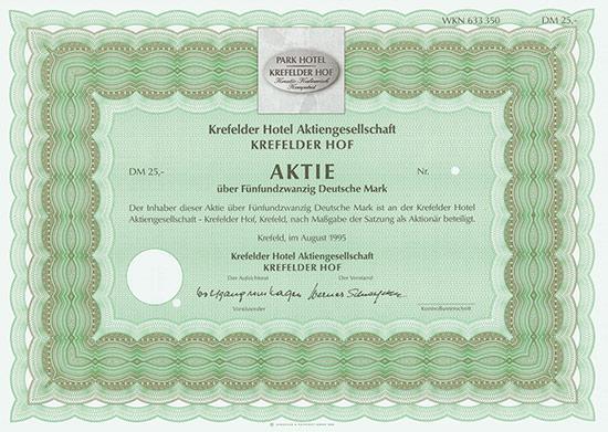 Krefelder Hotel Aktiengesellschaft Krefelder Hof