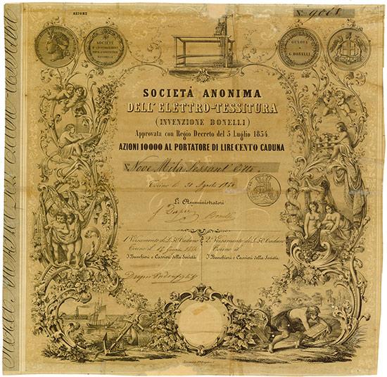 Societá Anonima dell'Elettro-Tessitura (Invenzione Bonelli)