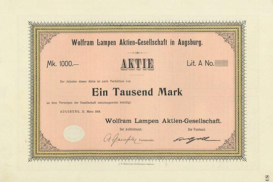 Wolfram Lampen AG
