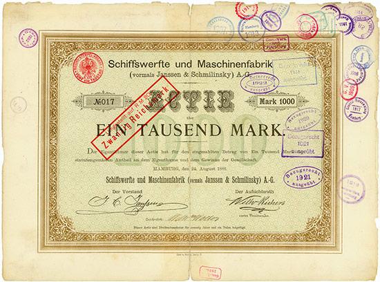 Schiffswerfte und Maschinenfabrik (vormals Janssen & Schmilinsky) A.-G.