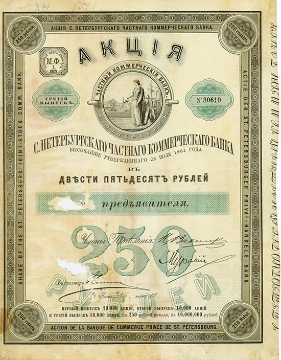 St. Petersburger Privat-Handels-Bank / Banque de Commerce Privée de St. Pétersbourg / St. Petersburg Joint-Stock Comm. Bank