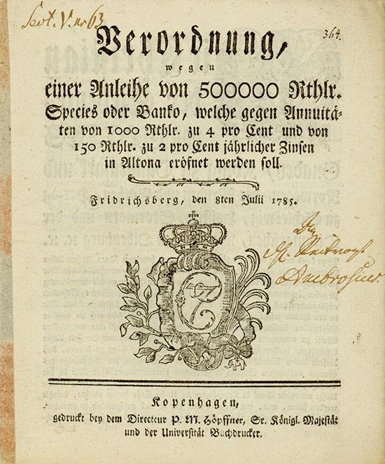 Christian der Siebende, König zu Dänemark, Norwegen, der Wenden und Gothen