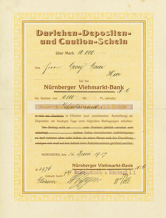 Nürnberger Viehmarkt-Bank / Nordbayer. Handels- und Gewerbebank AG
