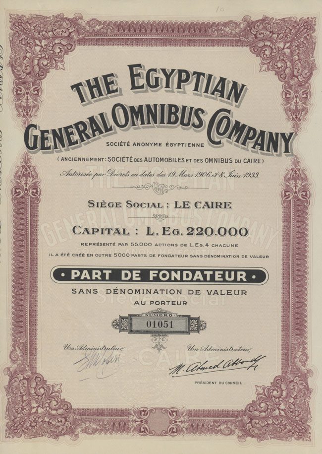 The Egyptian General Omnibus Company