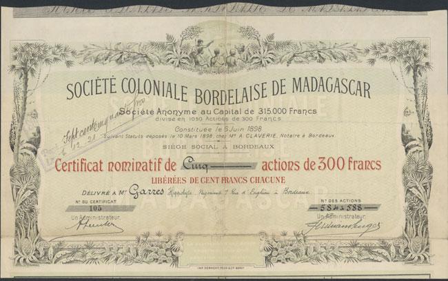Société loniale Bordelaise de Madagascar