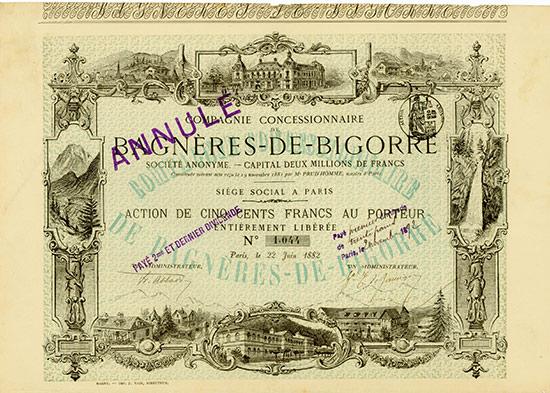 Compagnie Concessionnaire de Bagnères-de-Bigorre Société Anoynme