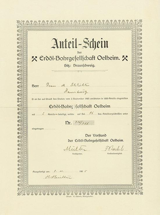 Erdöl-Bohrgesellschaft Oelheim