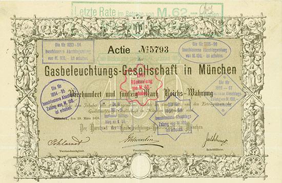 Gasbeleuchtungs-Gesellschaft in München