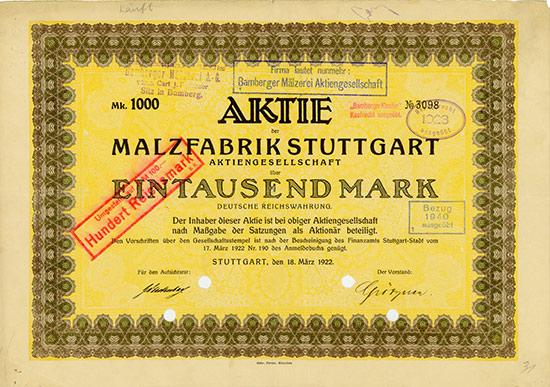 Malzfabrik Stuttgart AG