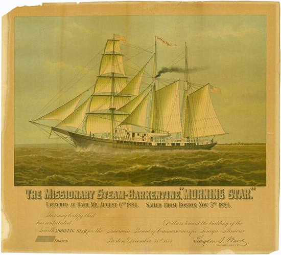 American Board of Commissioners for Foreign Missions - The Missionary Steam-Barkentine,
