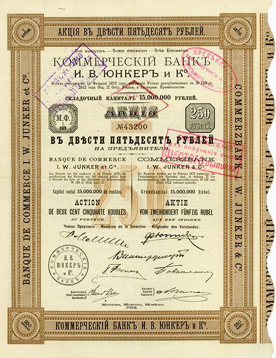 Commerzbank I. W. Junker & Co. / Banque de Commerce I. W. Junker & Cie.