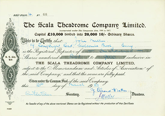 Scala Theadrome Company, Limited