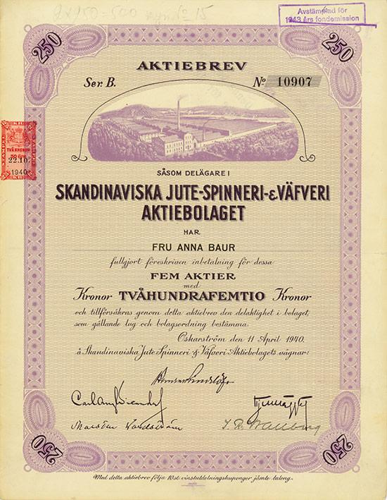 Skandinaviska Jute-Spinnerei- & Väfveri Aktiebolaget
